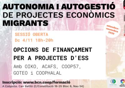 Autonomia i autogestió de projectes econòmics migrants