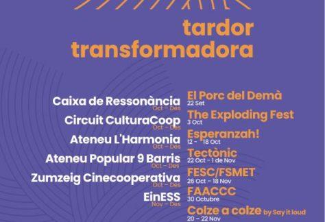 Tardor Transformadora, una proposta cultural col·lectiva al servei del pensament crític
