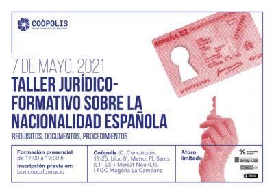 Taller jurídico-formatiu sobre la nacionalitat espanyola