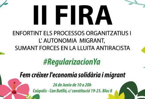 S'obre la convocatòria per participar a la II Fira d'economia social i solidària migrant i diversa